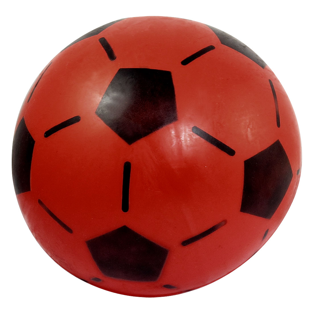 "Red PVC 9.8"" Dia Soccer Football Ball Toy for Children"