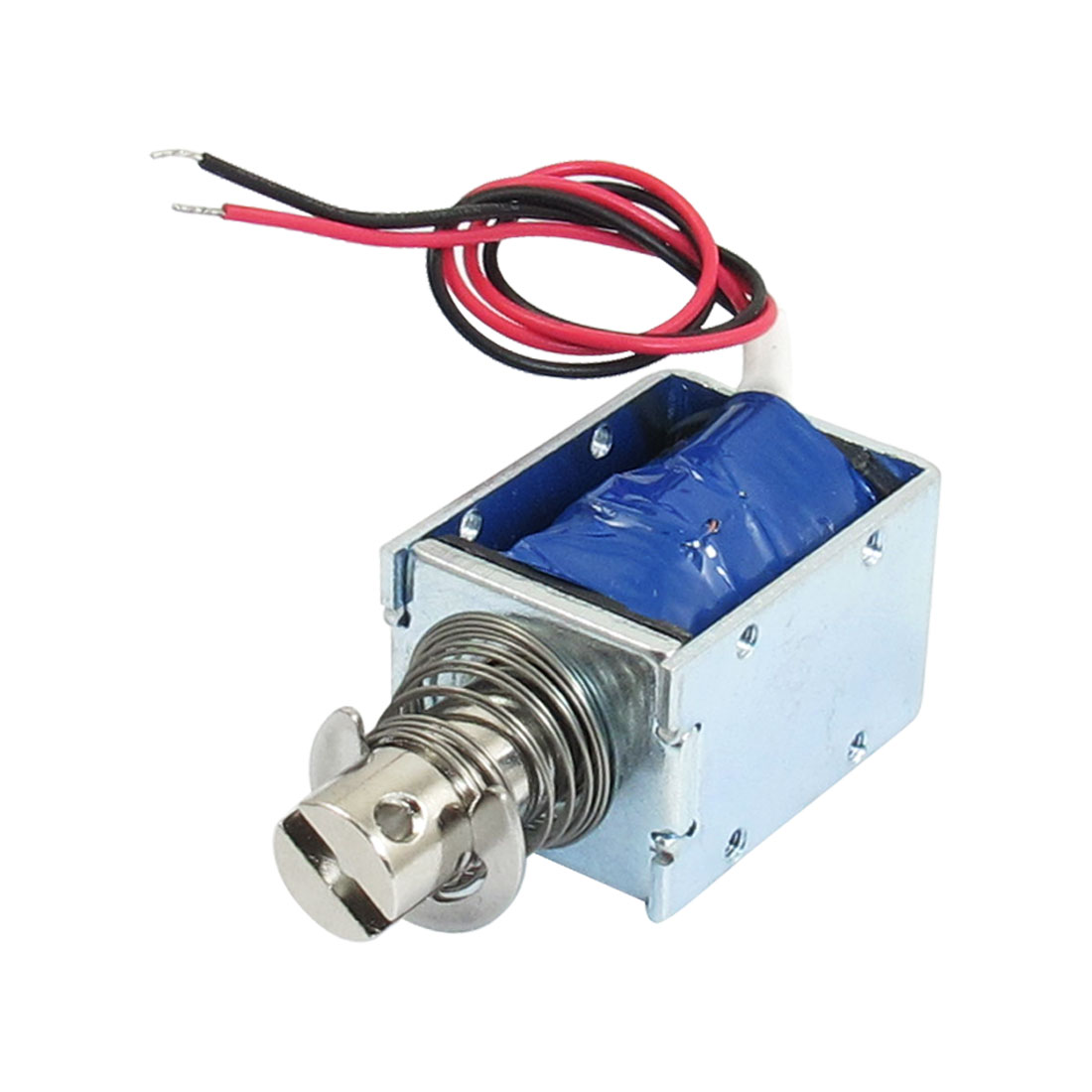 1kg Force 10mm Stroke Push Type Open Frame Solenoid Electromagnet DC 12V