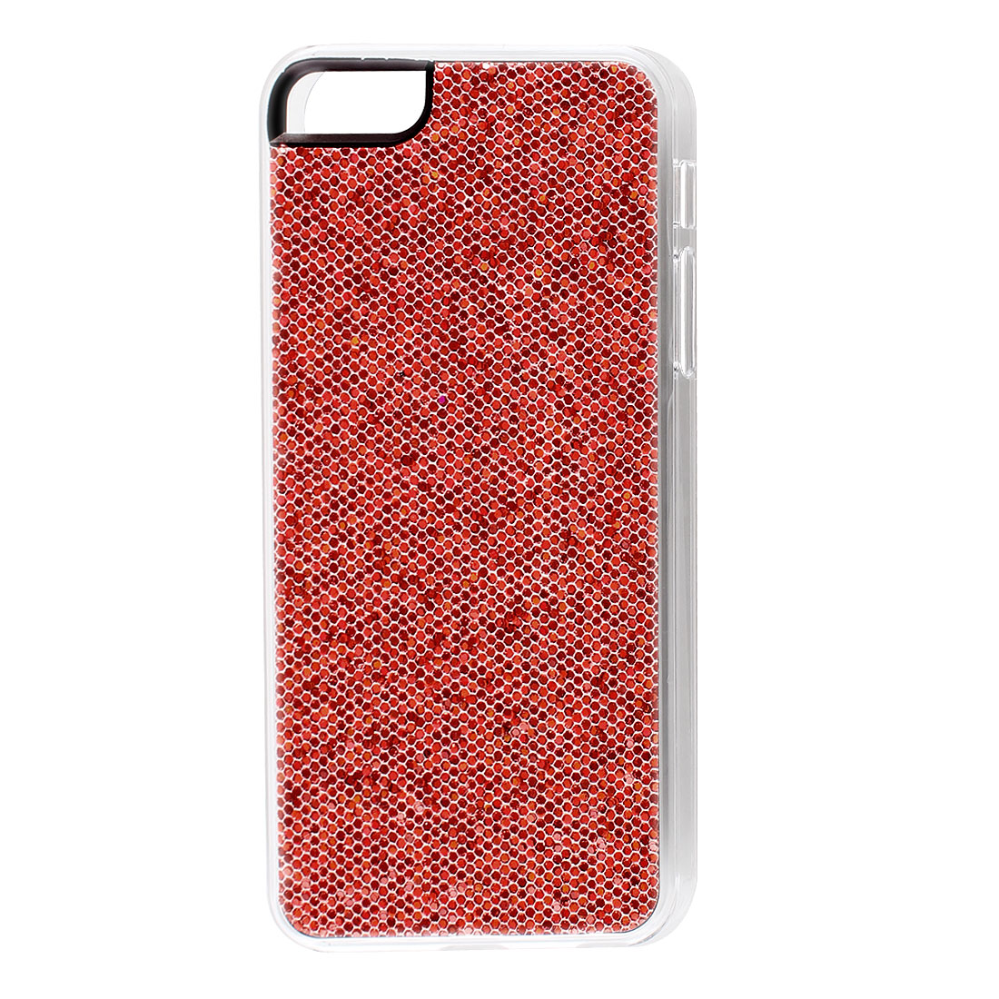 Red Sparkle Glitter Hexagons Hard Back Case Cover for iPhone 5 5G