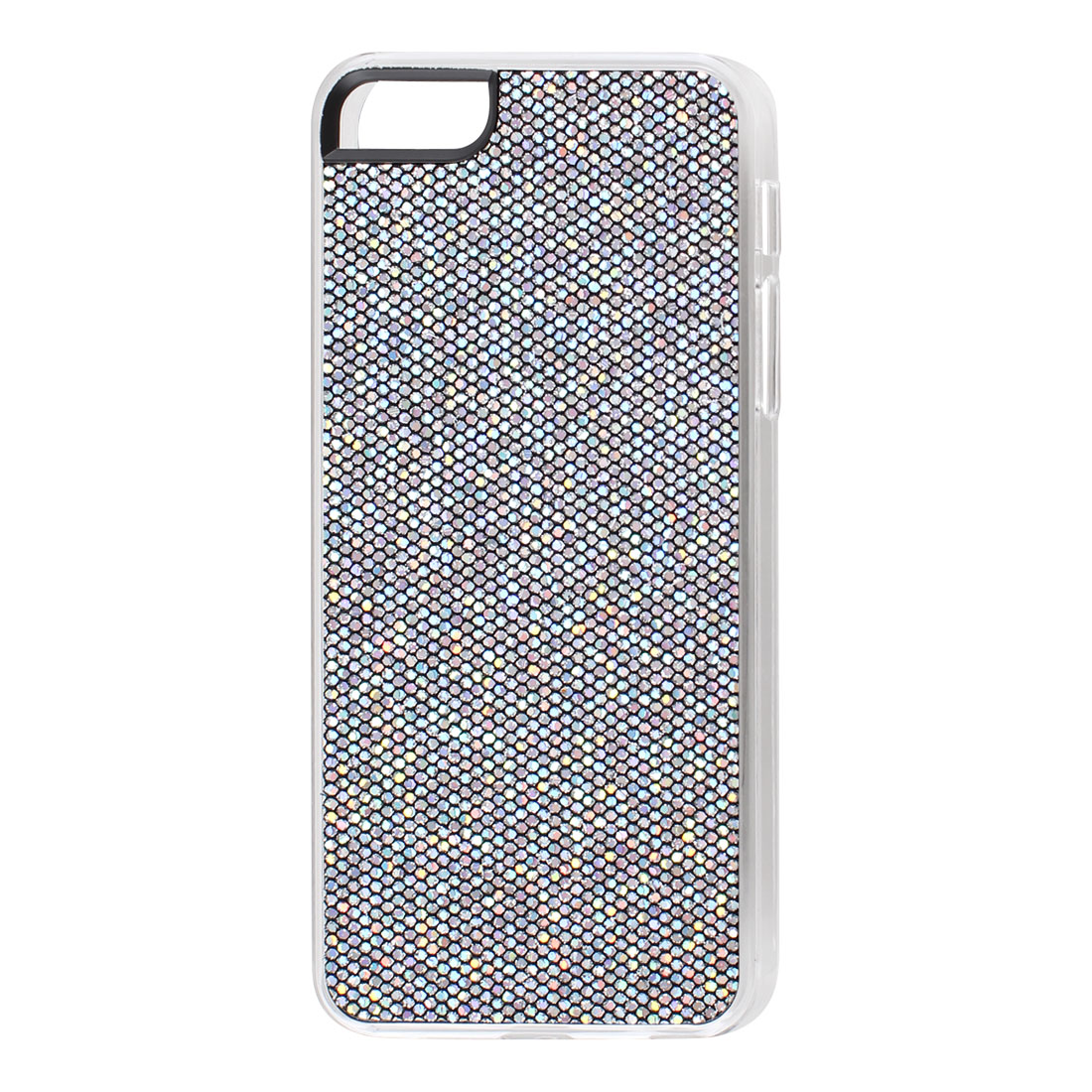 Gray Sparkle Glitter Hexagons Hard Back Case Cover for iPhone 5 5G