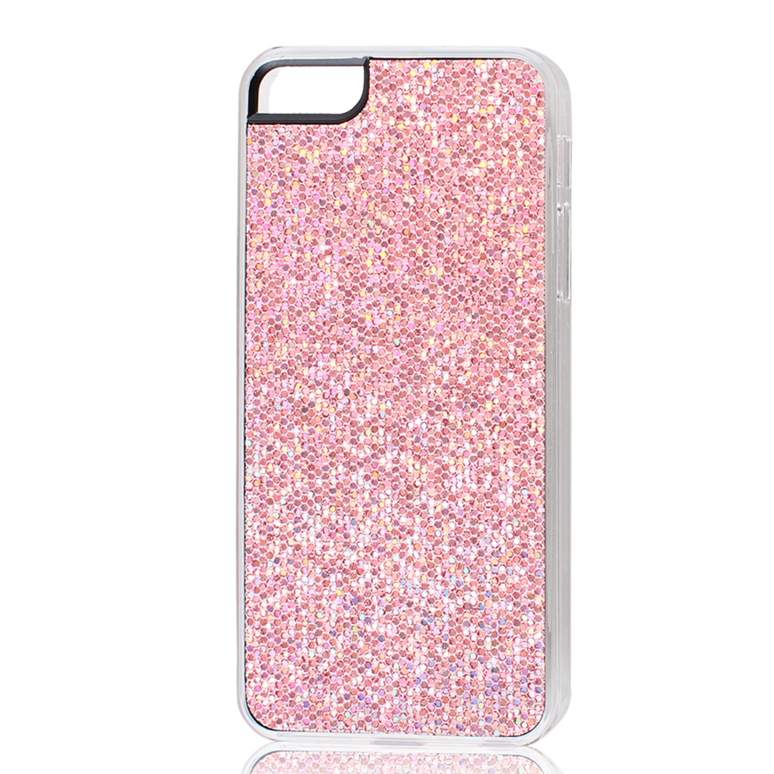 Dark Pink Sparkle Glitter Hexagons Hard Back Case Cover for iPhone 5 5G