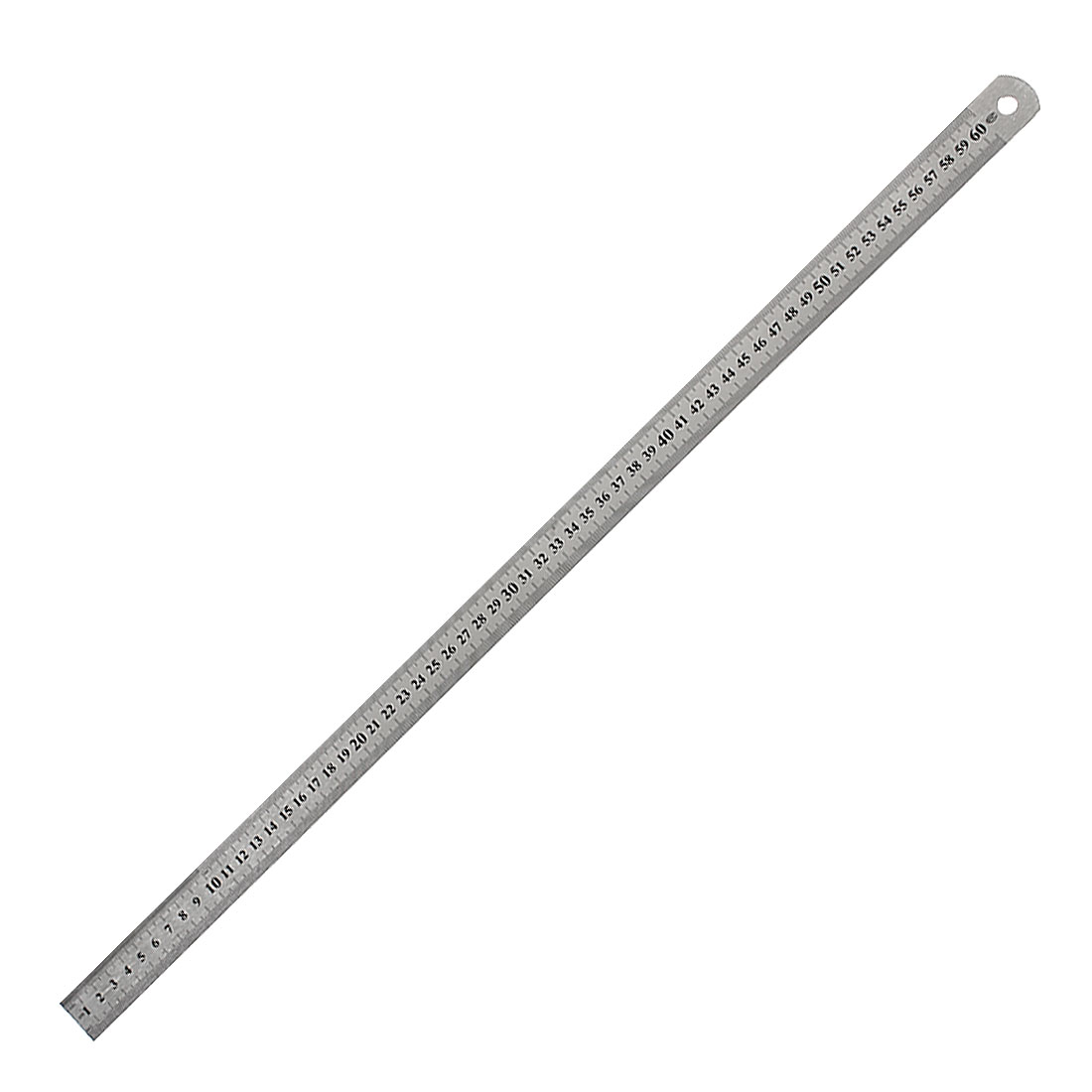 "Stainless Steel Black Painted 60cm 23.6"" Measuring Tool Long Straight Ruler"