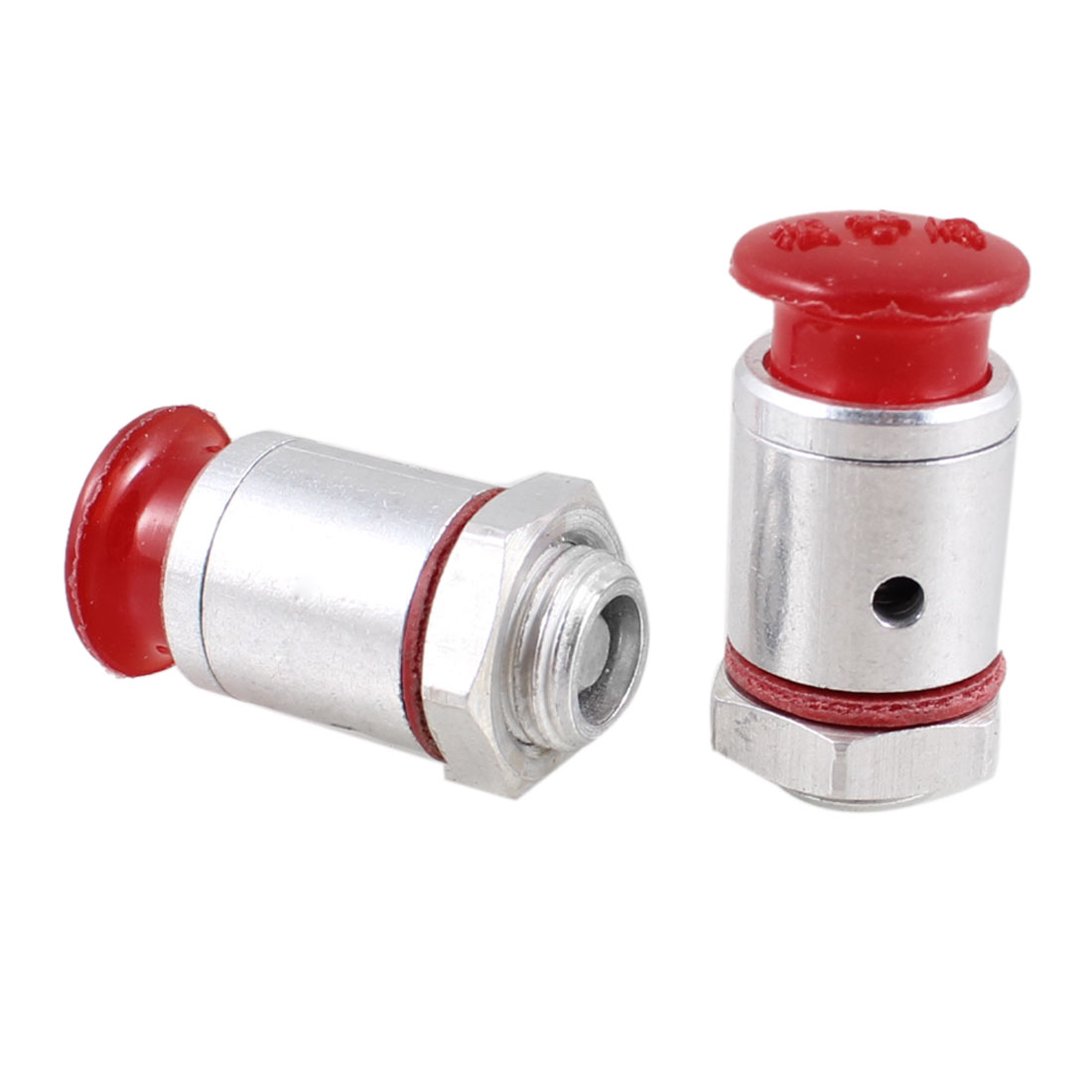 "2 Pcs 1/8"" NPT Thread Plastic Aluminium Pressure Cooker Safety Valve"