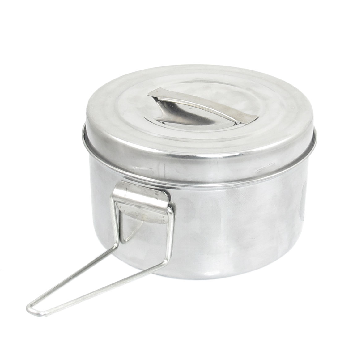 Kitchen Separable Handle Stainless Steel Round Shaped Lunch Box