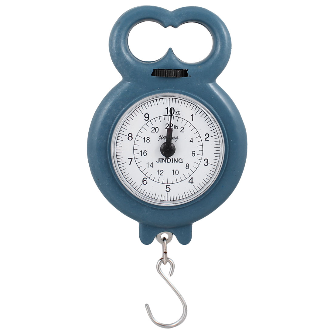 Round Dial Weight Luggage Fishing Analog Hanging Scale 10kg 22lb Dark Teal Color