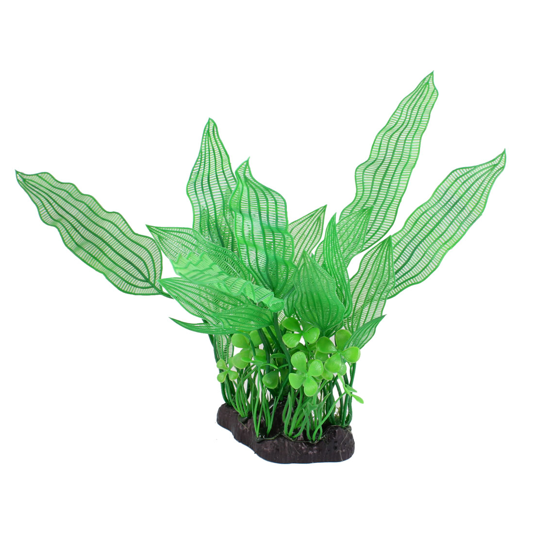"11.8"" Height Green Leaves Fish Tank Aquarium Plastic Simulation Plant Decor"