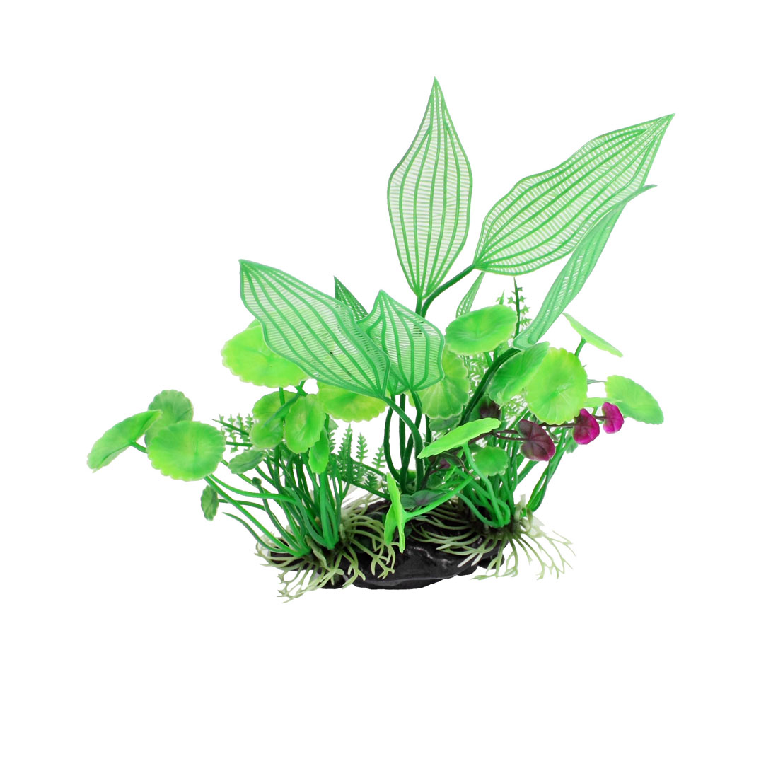 "7"" Height Green Purple Aquarium Landscaping Simulation Aquatic Plant Ornament"