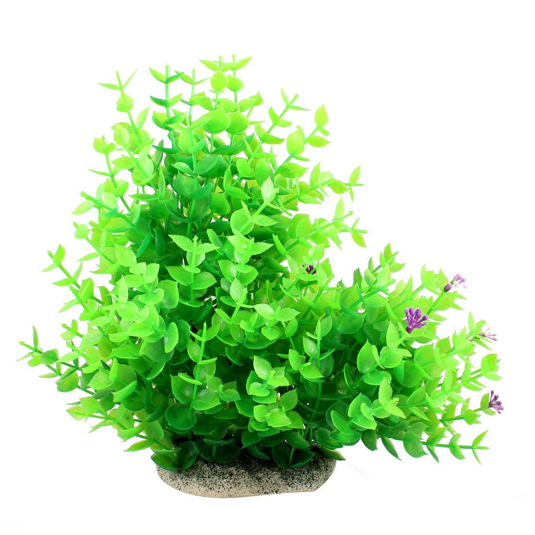 "7.9"" Height Green Leaves Fish Tank Simulation Aquatic Flower Plant Decoration"