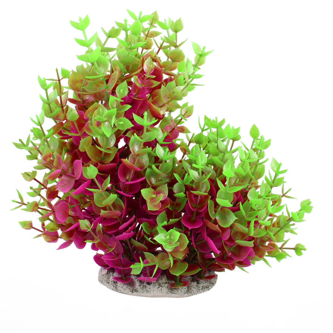 "7.9"" Height Green Purple Leaf Fish Tank Simulation Aquatic Plant Decoration"