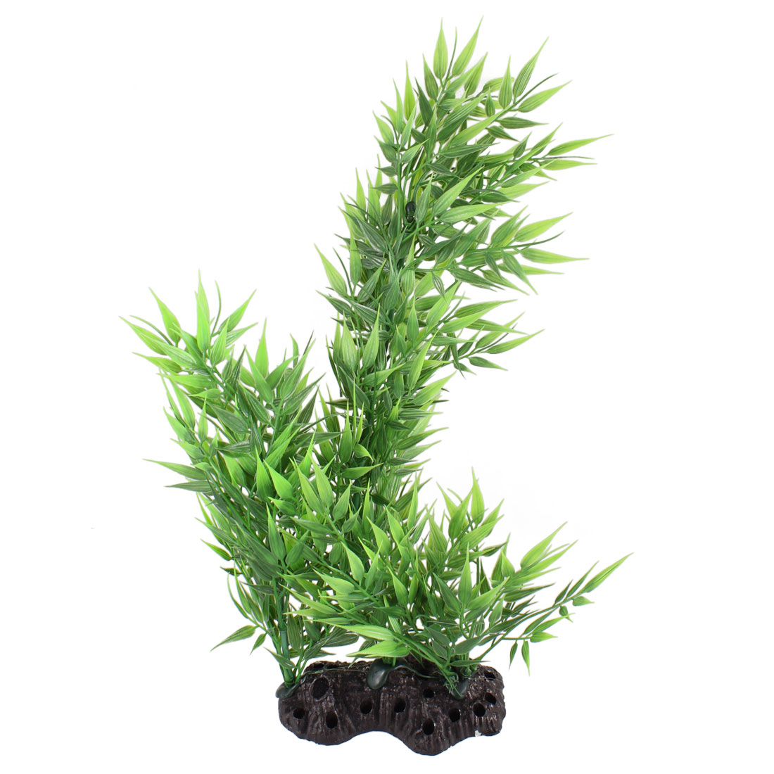 "13"" Height Green Bamboo Leaves Aquarium Simulation Aquatic Plant Decoration"