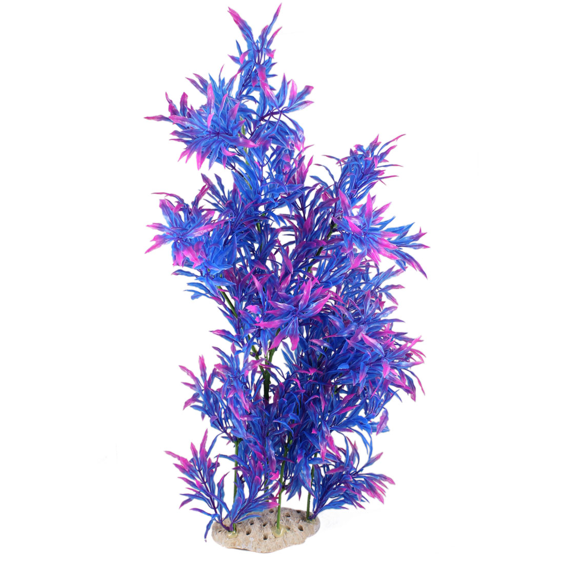 "18.5"" Height Purple Blue Fish Tank Simulation Plastic Aquatic Plant Ornament"