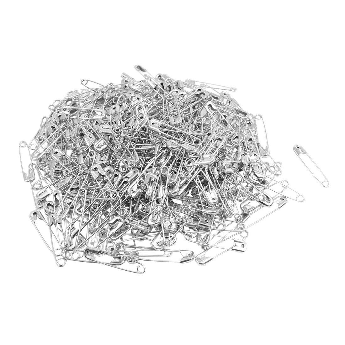 Metal Clothing Trimming Fastener Clip Button Safety Pins Silver Tone 500pcs