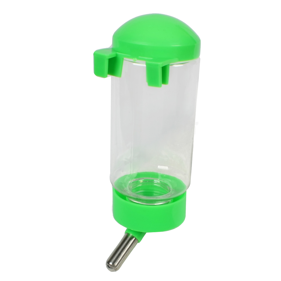 Doggy Dog Hanging Water Bottle Pet Dispenser Green Clear 300ml Capacity