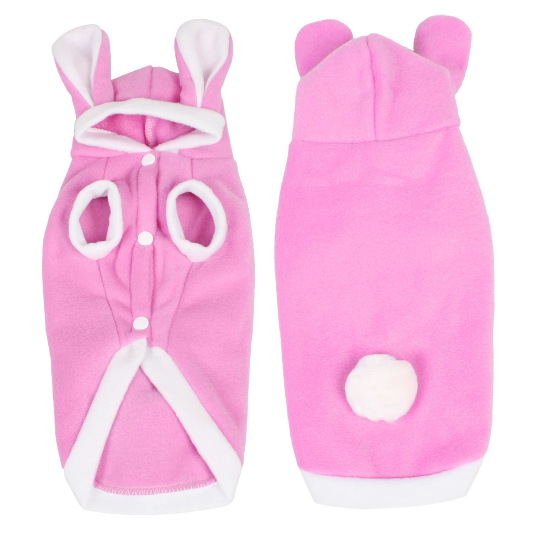 Rabbit Pink Pet Puppy Dog Apparel Hoodies Coat Jacket Clothes Size S