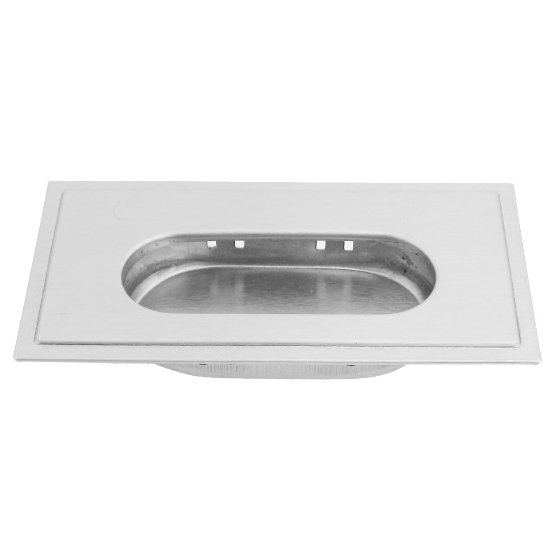 Cabinet Hardware Rectangle Edge Stainless Steel Flush Pull Handle