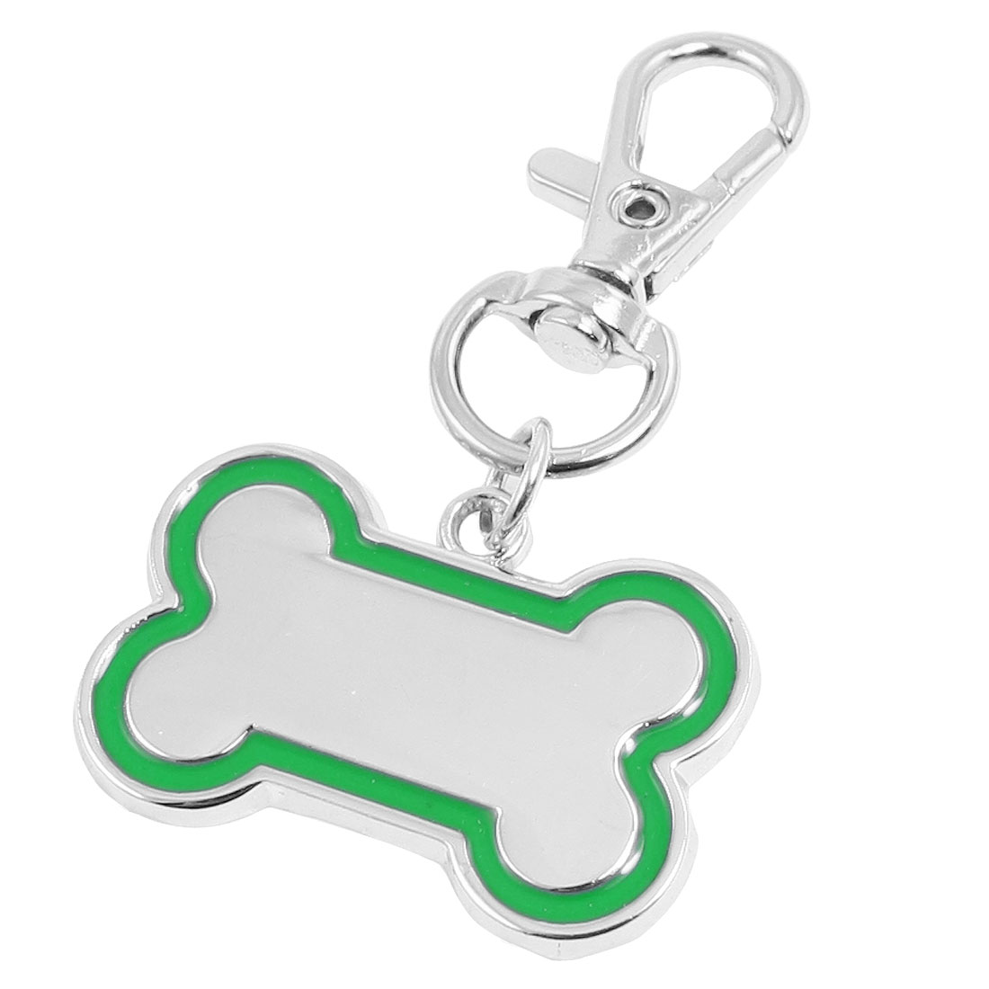 Lobster Clasp Bone Shape Pendant Pet Cat Puppy Dog Collar Charm Green