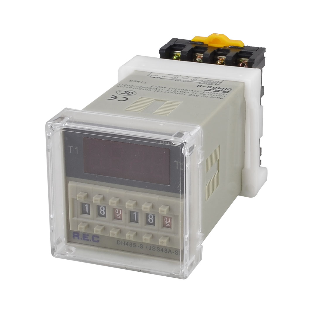 DH48S-S Digital Timer Time Delay Relay 0.01S - 99H 99M 8 Pins w Socket