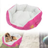 Warm Fuchsia Fleece Removeable Cushion Pet Dog Doghouse Kennel 45x40cm