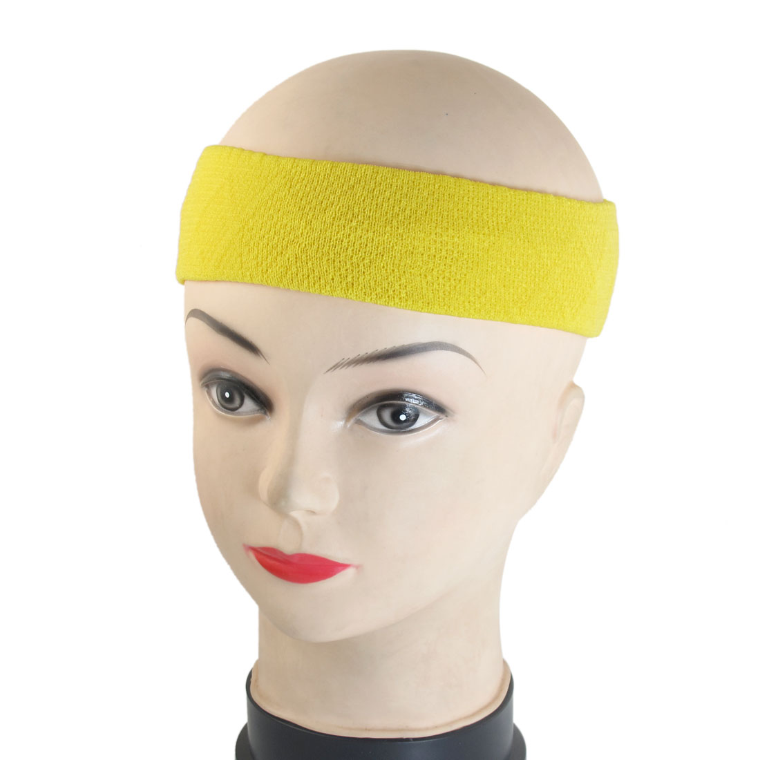 2 Pcs Solid Yellow Color Elastic Headband Spa Bathing Hair Band for Ladies