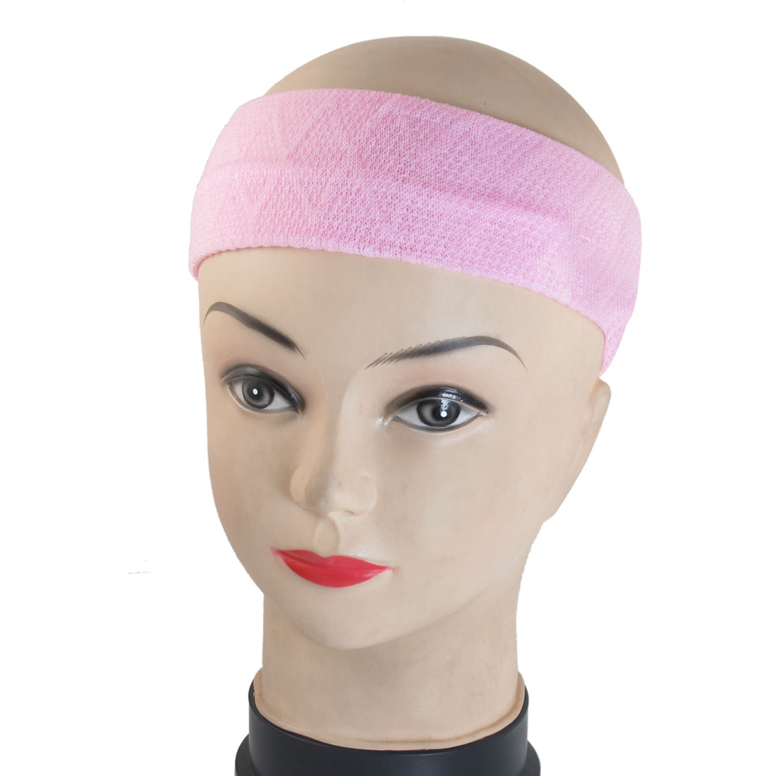 DIY Hairstyle Stretchy Head Band Elastic Headband Hair Holder Pink 2 Pcs