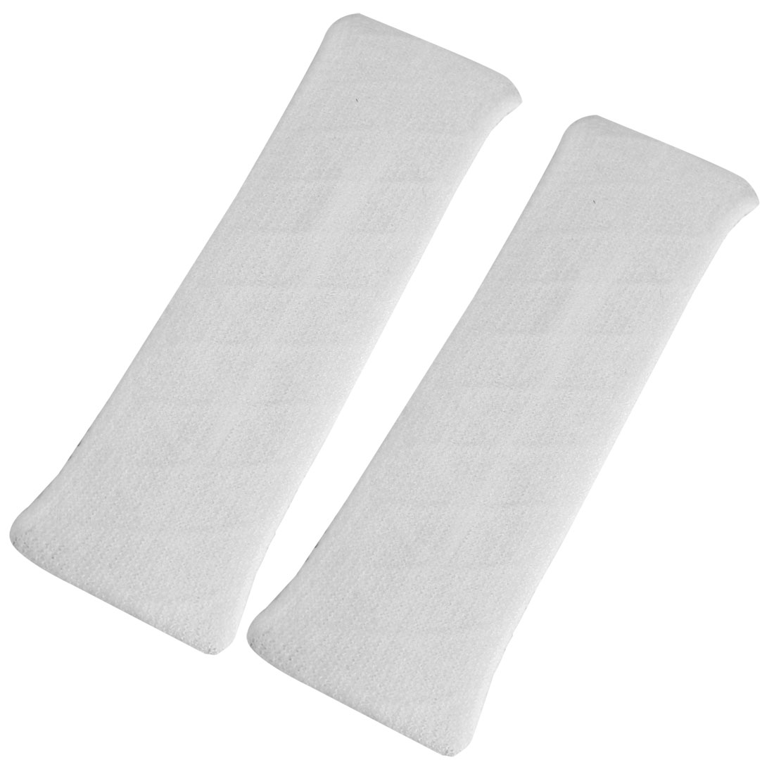 Household Bathing Elastic Fabric Headband Hair Band White 2 Pcs for Ladies