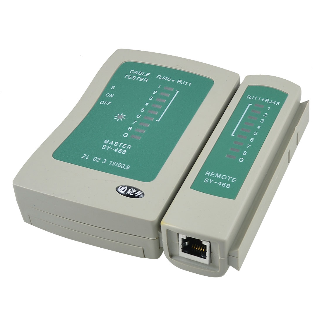 Green Khaki On/Off RJ11 RJ45 LAN Network Phone Cable Tester SY- 468