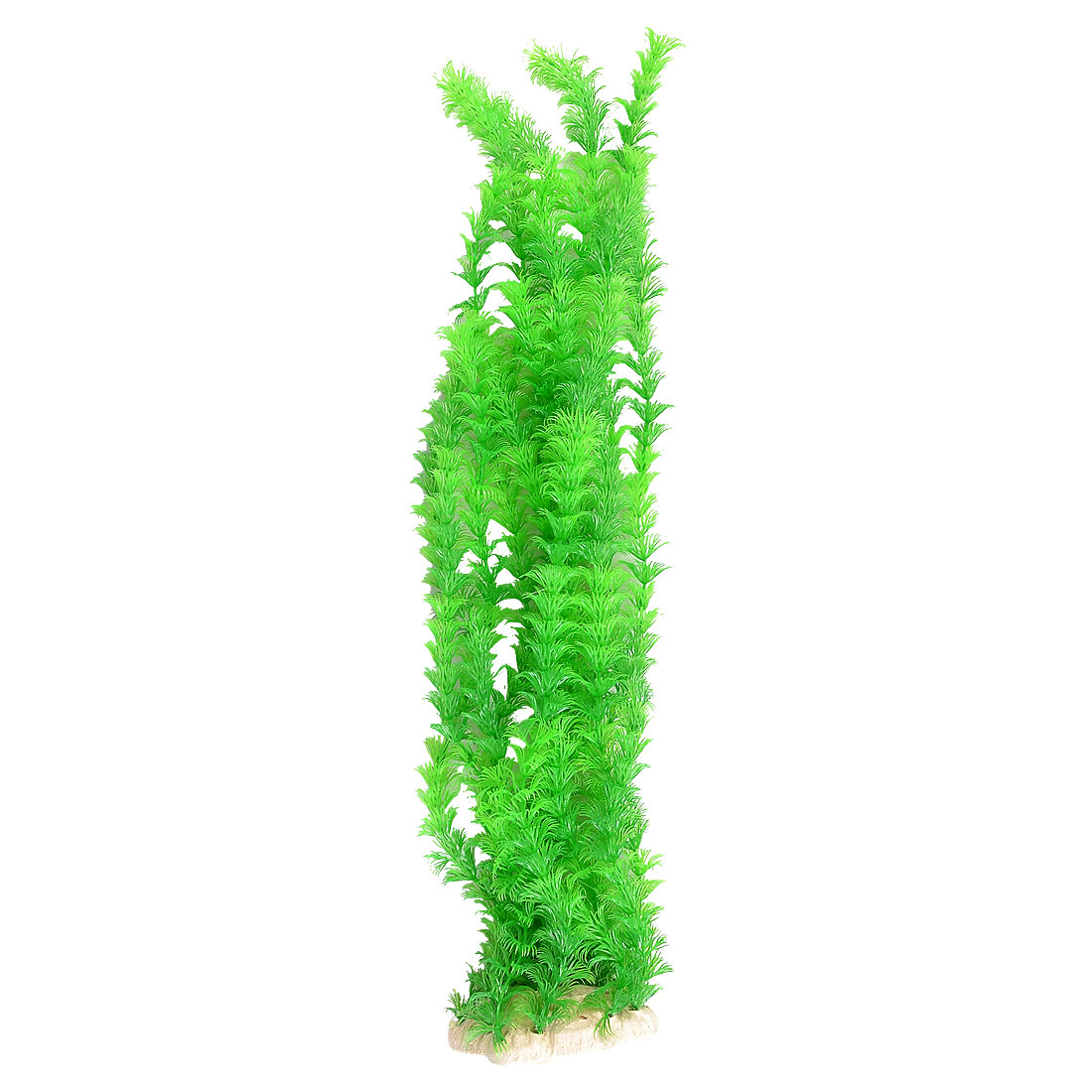"19.6"" Height Plastic Slim Green Leaves Water Grass Plants for Aquarium Fish Tank"