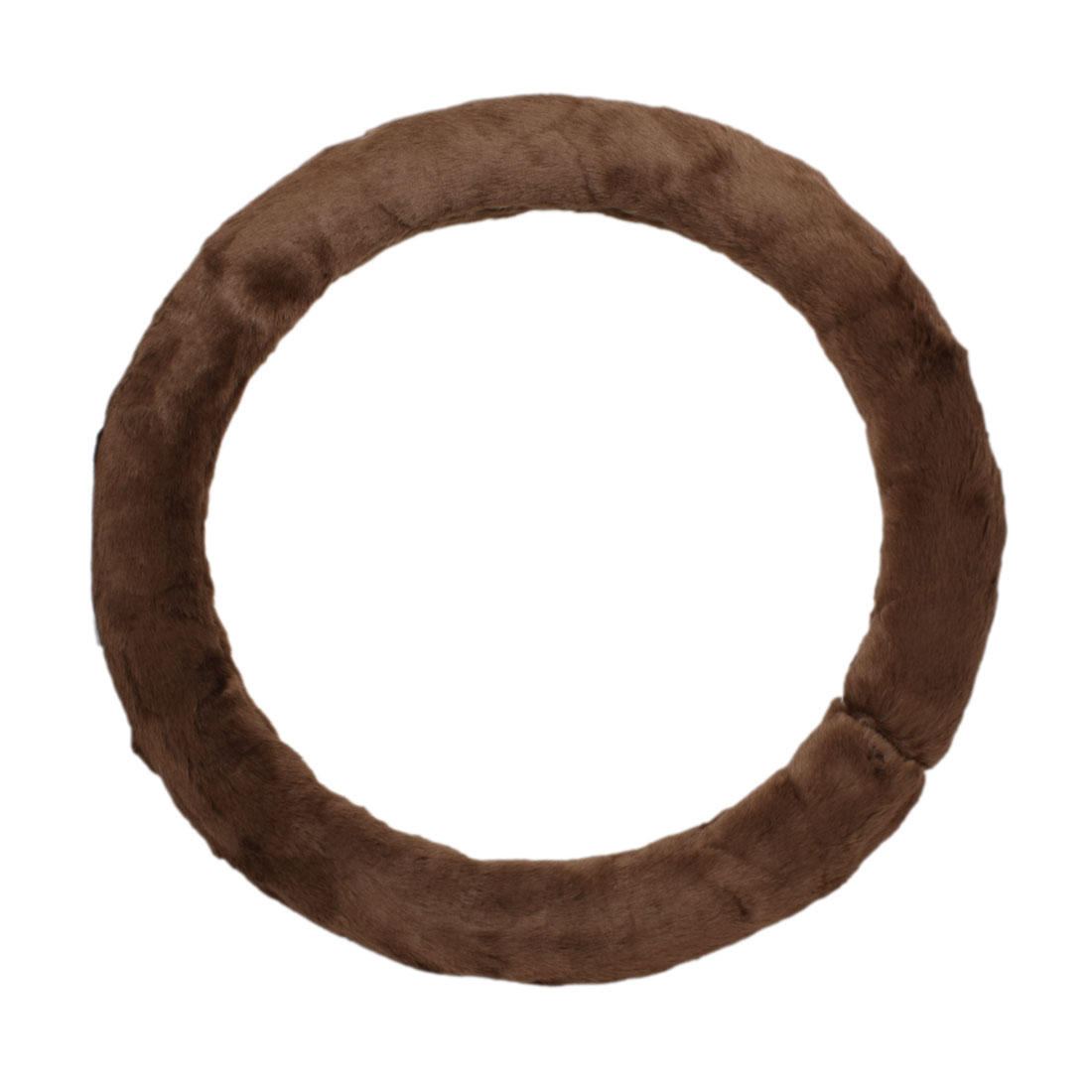Dark Brown Winter Plush Protecting Steering Wheeling Cover for Vehicle Car