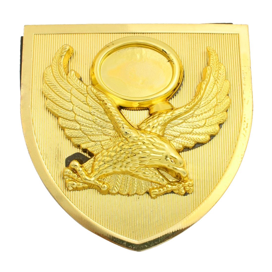 Gold Tone Eagle Pattern Badge Emblem 3D Sticker for Car Vehicle