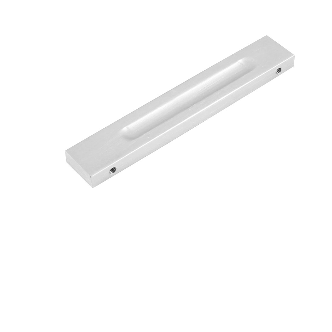Hardware Cabinet Fitting Silver Tone Aluminum Pull Handle 4.6""