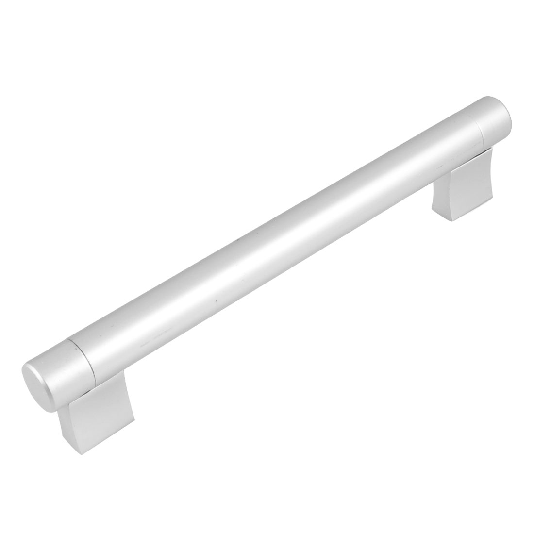 "Cupboard Screw Fix Silver Tone Aluminum 7.2"" Length Round Pull Handle"