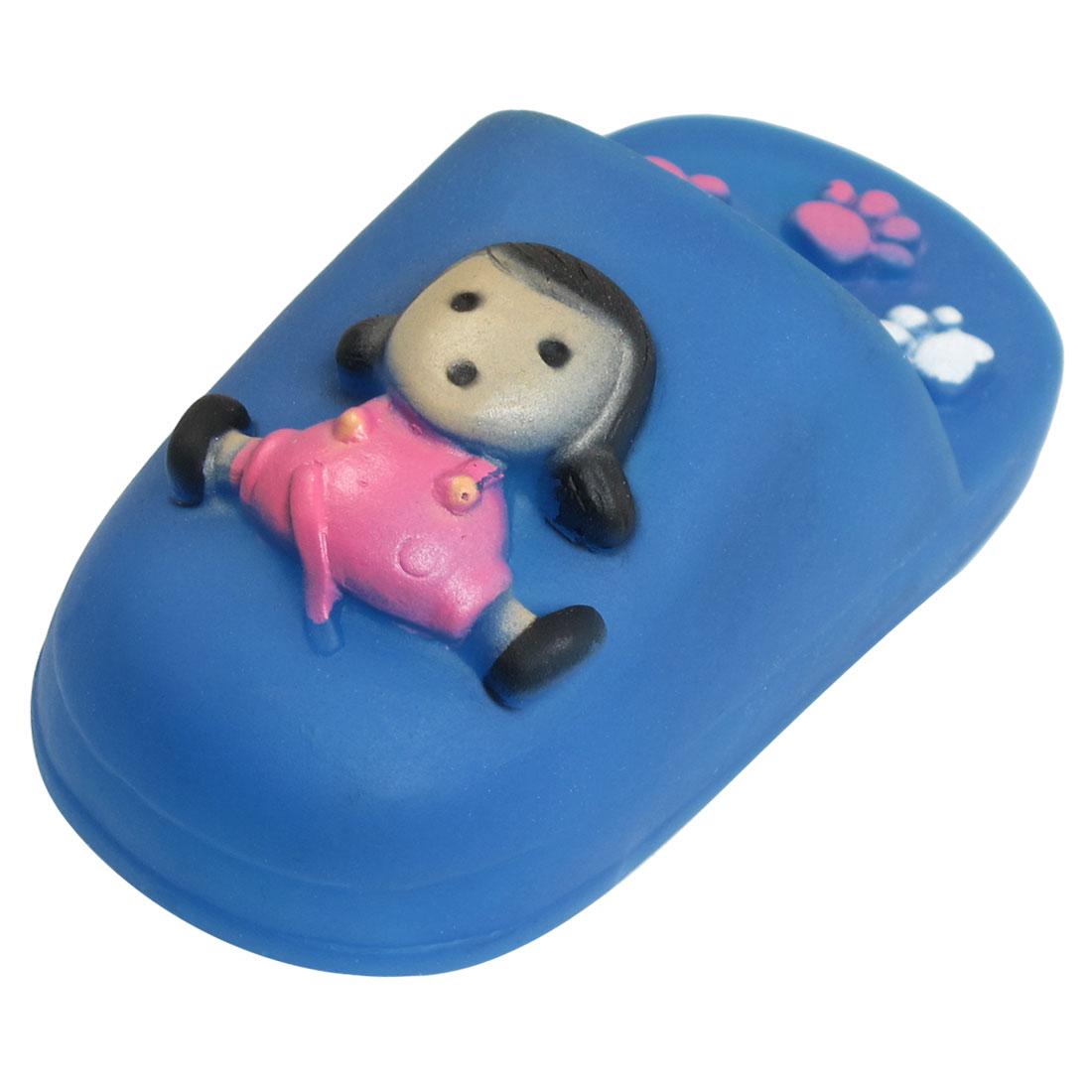 Doggie Puppy Squeeze Squeaker Slipper Design Girl Pattern Toy Blue