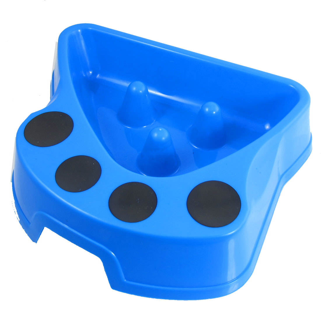 "2.0"" Depth Blue Plastic Dog Cat Pet Slow Feed Bowl Feeder Dish"
