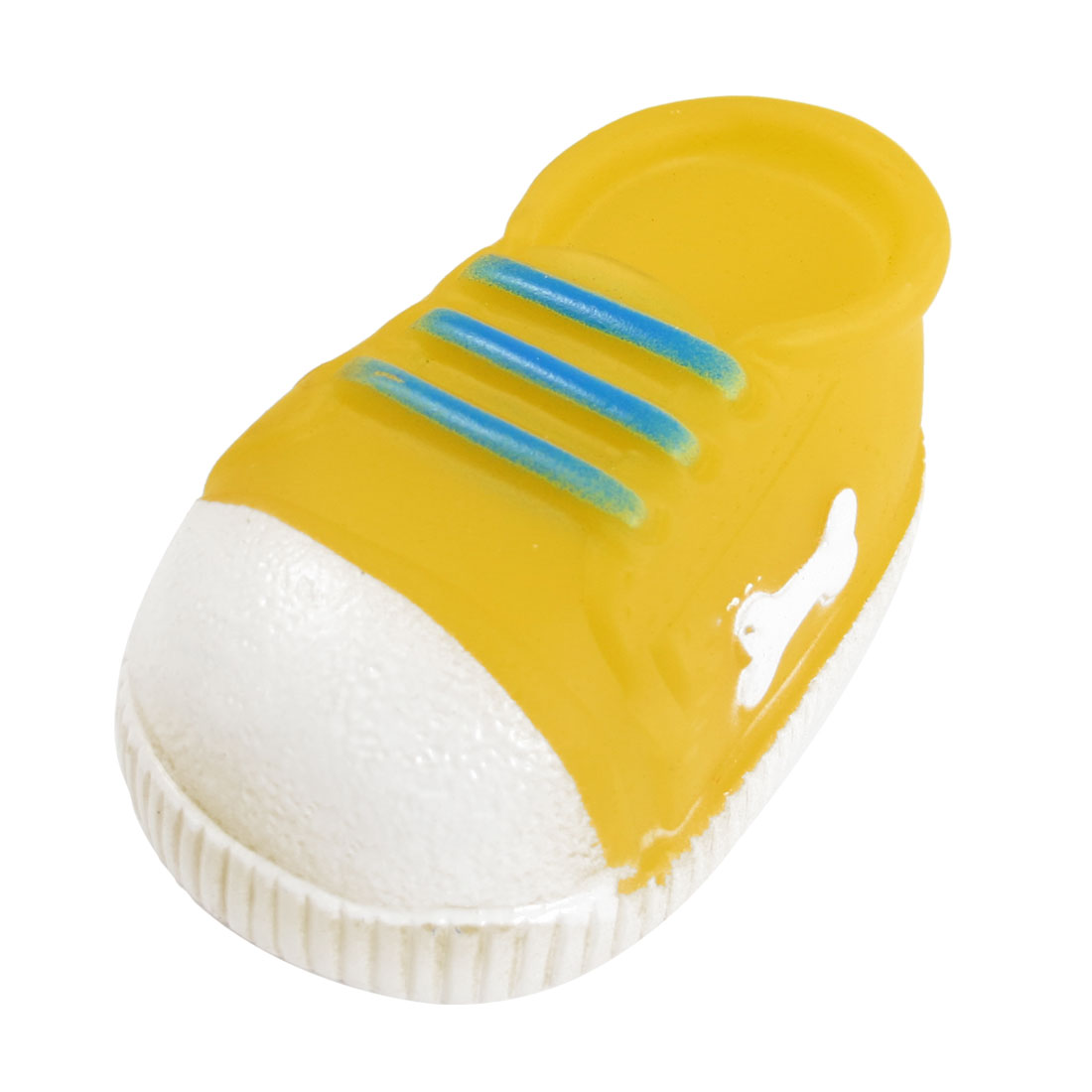 Yellow Bone Printing Shoe Shaped Squeaky Chew Toy for Pet Dog