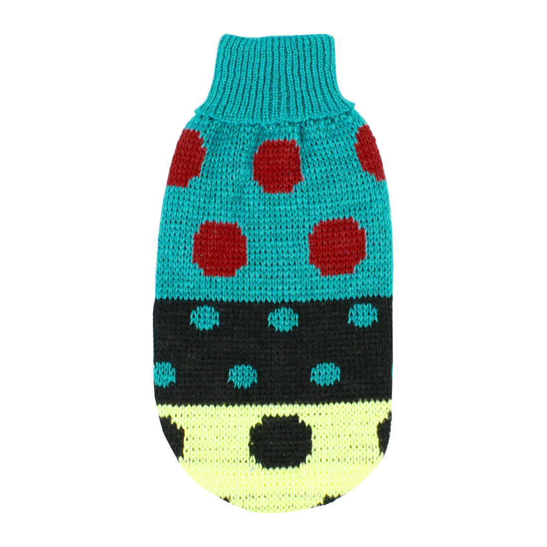 Pet Dog Chihuahua Yorkie Clothes Sweater Apparel Teal Green Winter Knitwear XXS