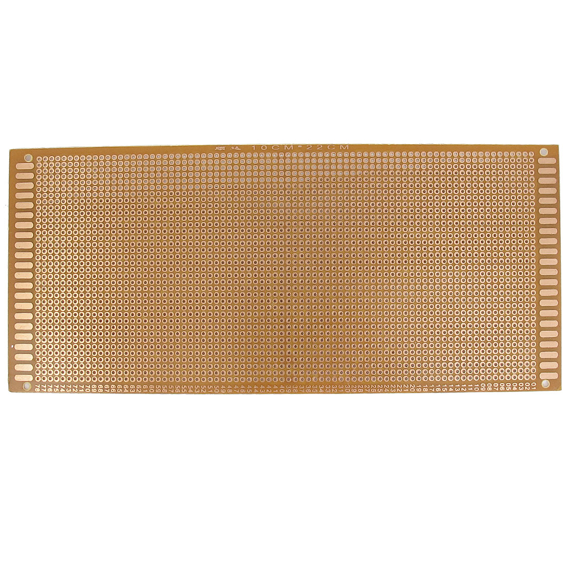 Universal Single Side Copper Tone Panel Prototype PCB Board 10cm x 22cm