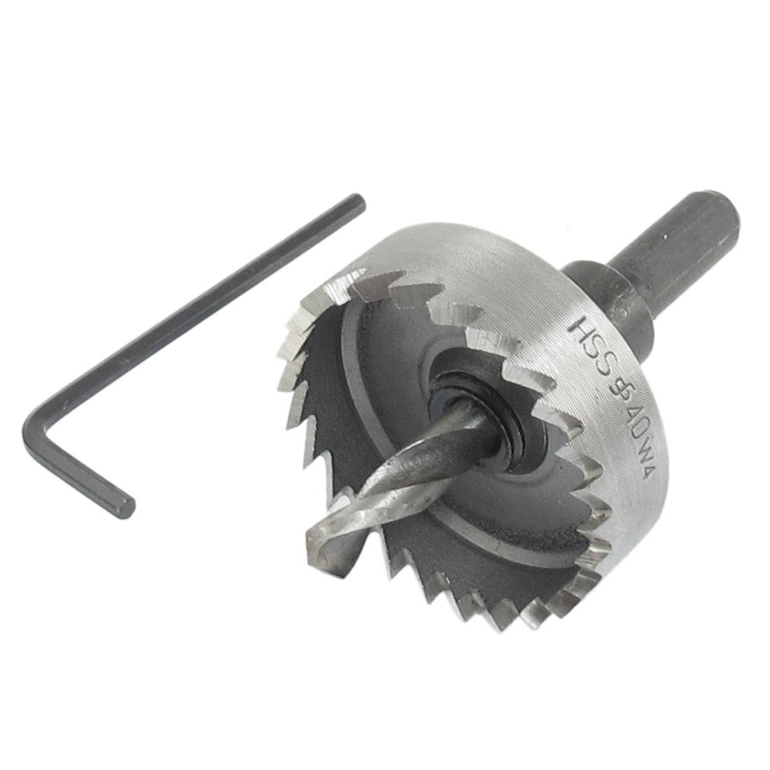 HSS Triangle Shank Twist Drill Bit Iron Cutting 40mm Hole Saw