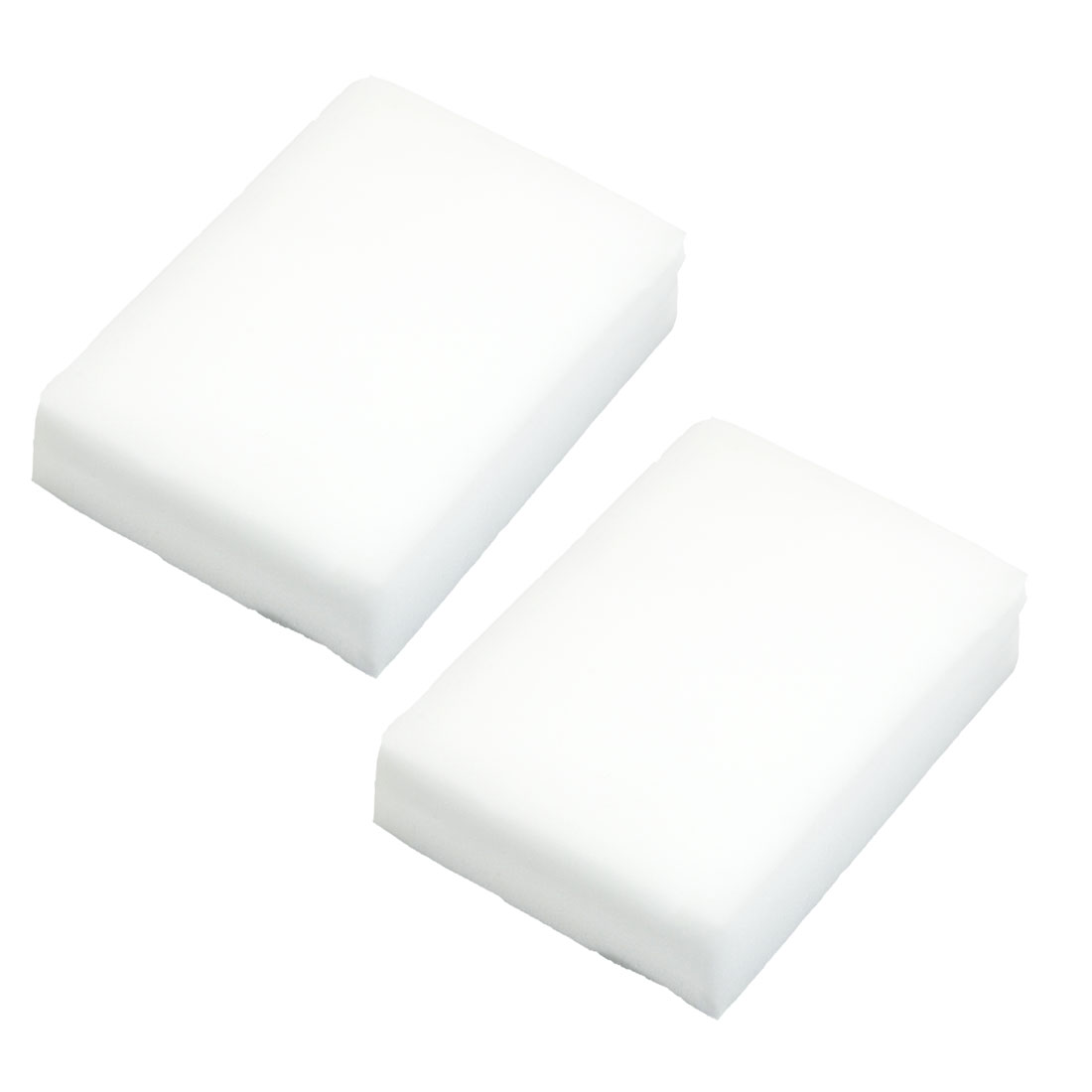 Kitchen Water Absorbing Cleaner Sponge Block Cleaning Tool White 2 Pcs