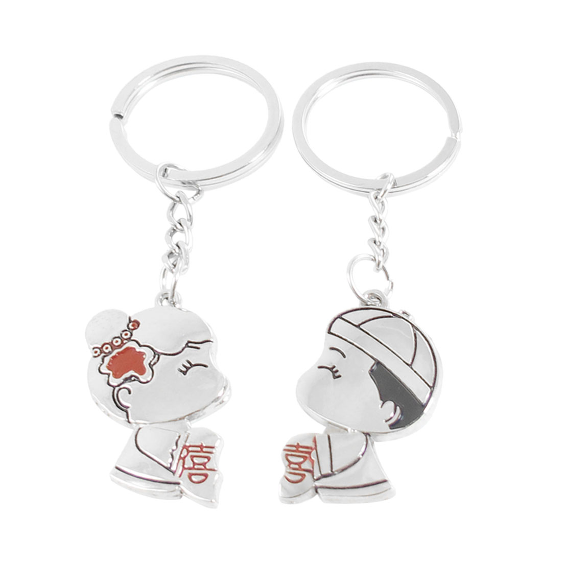 Pair Boy Kissing Girl Pendant Cell Phone Straps Ornament for Couple