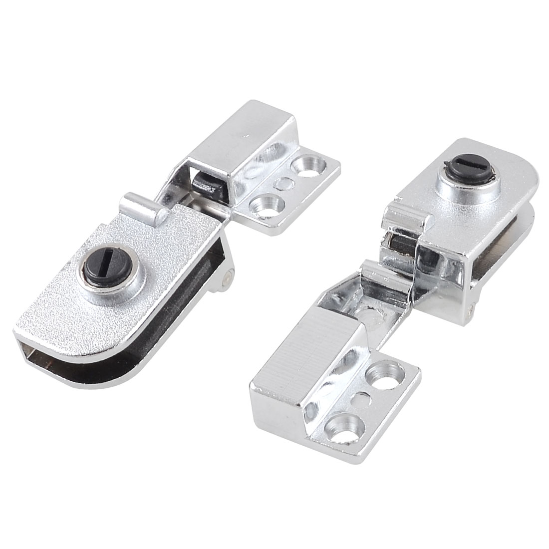 Replacement Metal Door Catch Hinge for 5mm Thickness Glass 2 Pcs