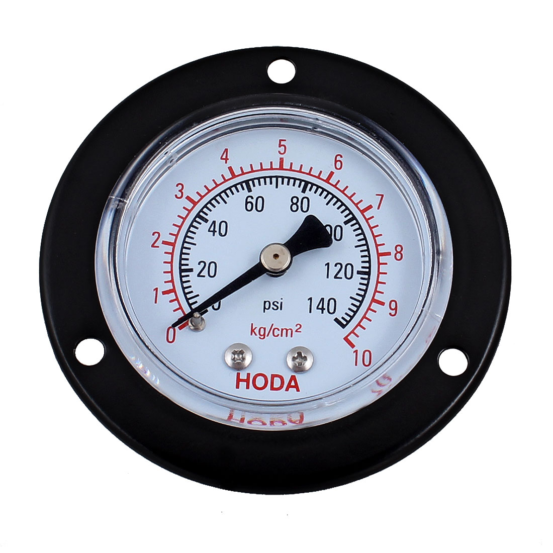 "Black 0.51"" Male Thread Diameter Water Air Pressure Gauge Gage 0-140 Psi"