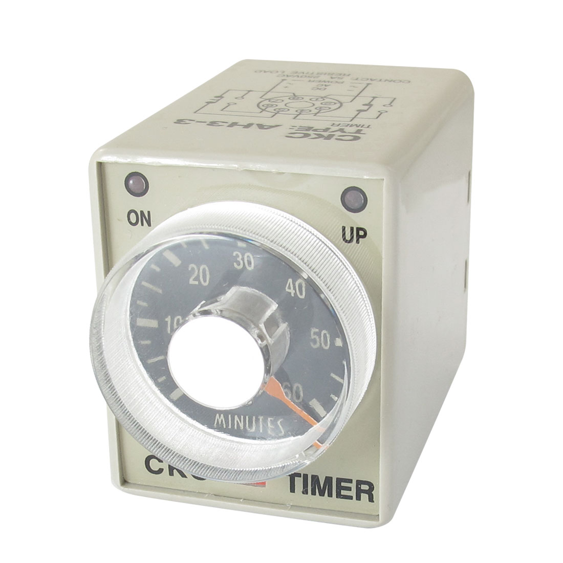 AC 380V 0-60 Minutes 60m Plastic Housing Delay Timer Time Relay 8 Pin AH3-3