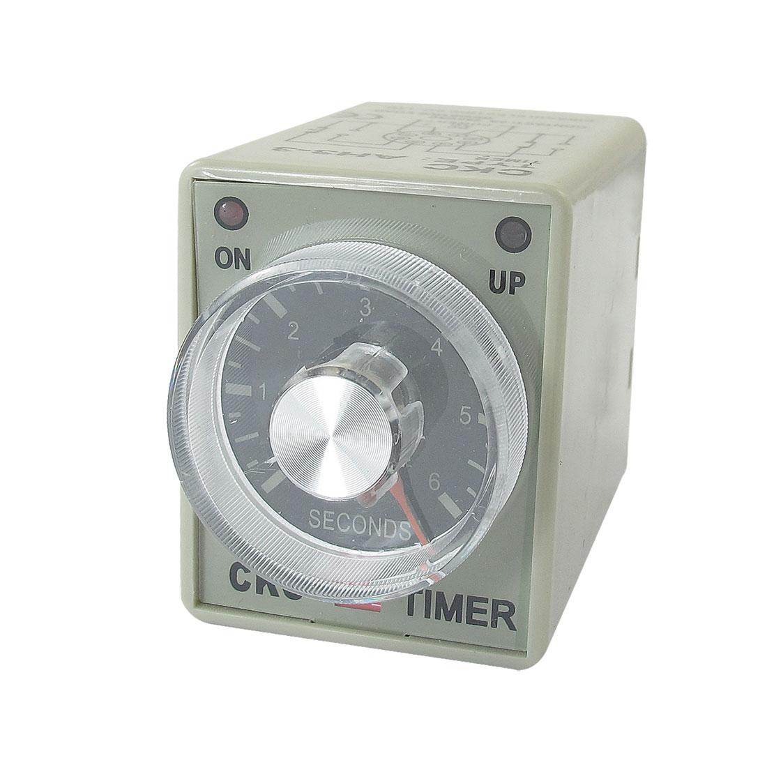 12VDC 30sec 0-30s DPDT 8 Pin 8P Terminals Delay Timer Time Relay AH3-3
