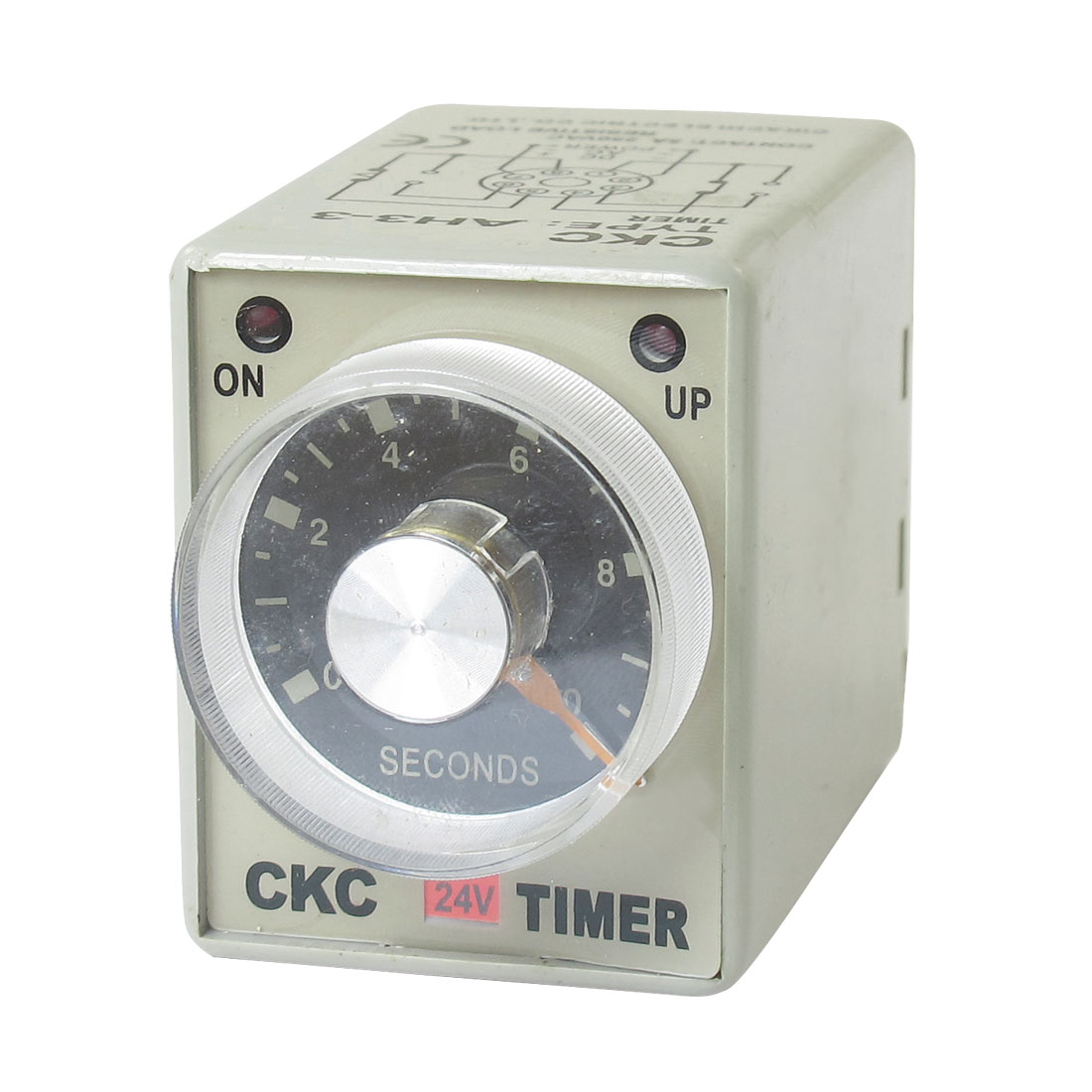 AC 24V 0-10Seconds 10s Plastic Housing Delay Timer Time Relay 8 Pin AH3-3