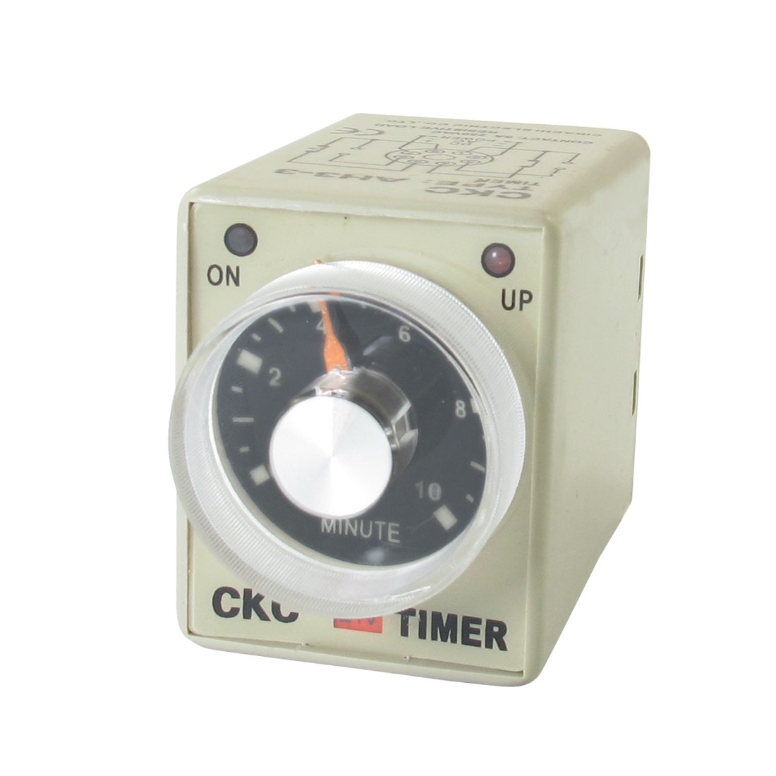 AC 24V 0-10 Minutes 10m Plastic Housing Delay Timer Time Relay 8 Pin AH3-3