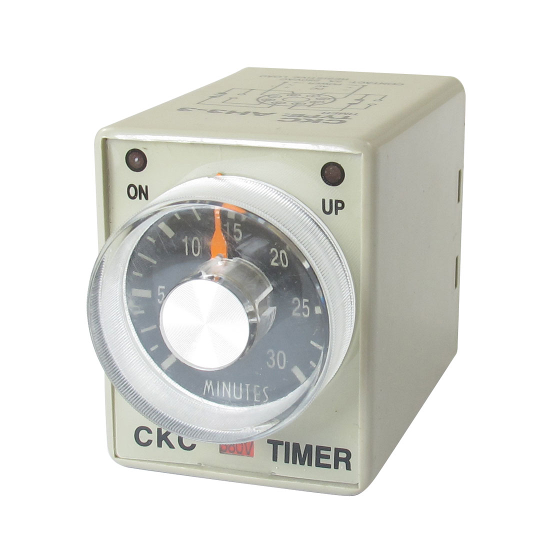 AC 380V 0-30 Minutes 30m Plastic Housing Delay Timer Time Relay 8 Pin AH3-3