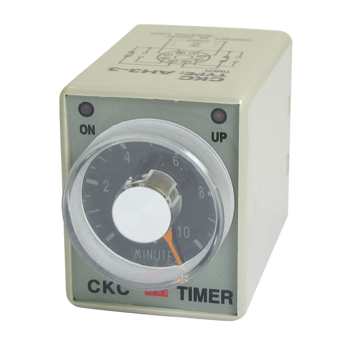DC 12V 0-10 Minutes 10m Plastic Housing Delay Timer Time Relay 8 Pin AH3-3