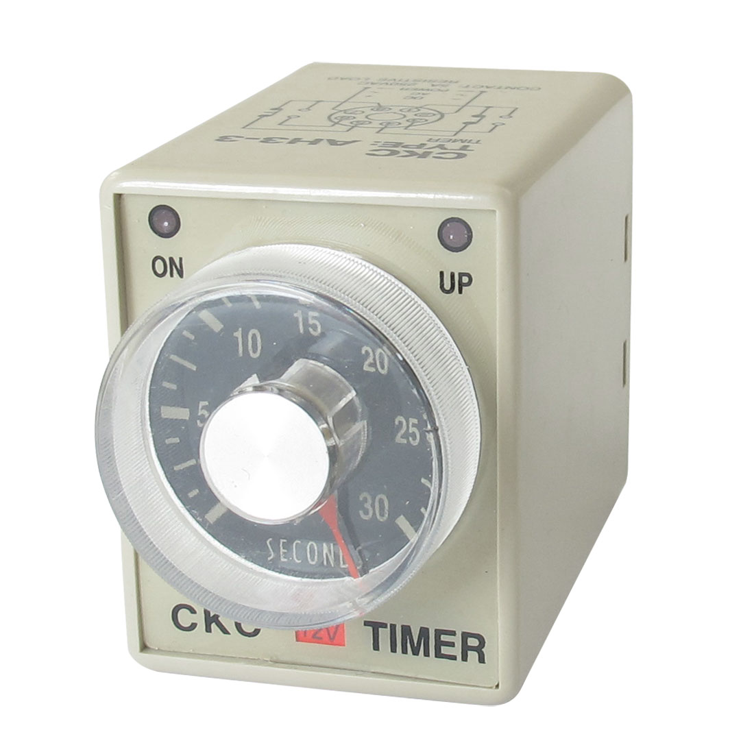 AH3-3 On/Up LED Indicator Power On Timing Relay DPDT 0-30s 30 Sec 12V DC