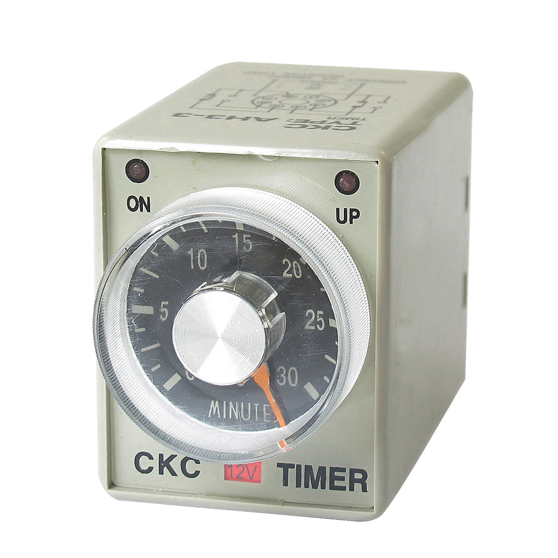 DC 12V 0-30 Minutes 30m Plastic Housing Delay Timer Time Relay 8 Pin AH3-3