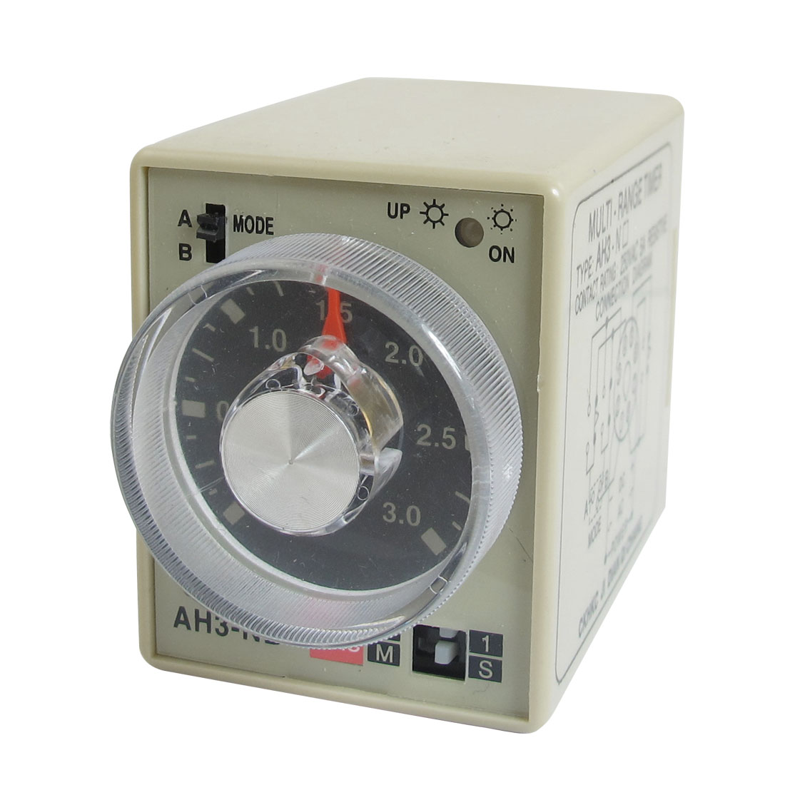 AC 220V 0-3 Second 0-30 Minutes Timer Power On Delay Time Relay 8 Pin AH3-NB
